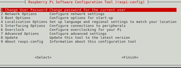 Das Passwort für Benutzer pi via raspi-config ändern