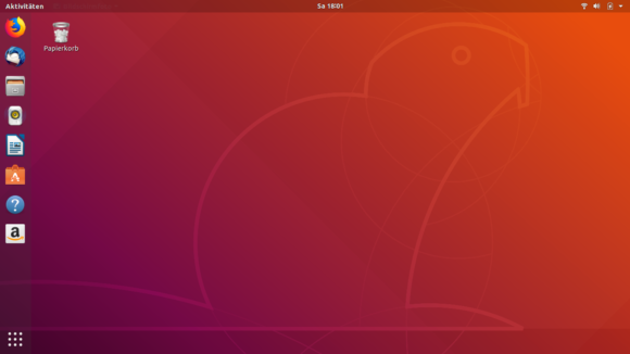 Ubuntu 18.04 LTS Desktop - eigentlich ganz hübsch