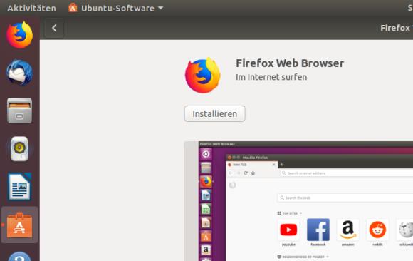 Firefox bei Ubuntu 18.04 LTS installiert oder nicht? Häh?