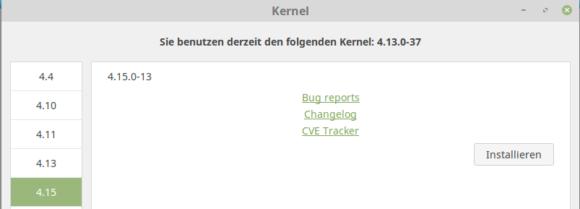 Linux-Kernel 4.15 unter Linux Mint 18 installieren