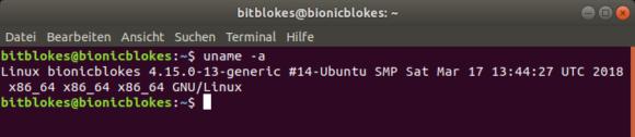 Ubuntu 18.04 Bionic Beaver mit Linux-Kernel 4.15.0-13