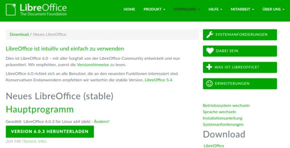 LibreOffice 6.0.3 steht ab sofort zum Download bereit