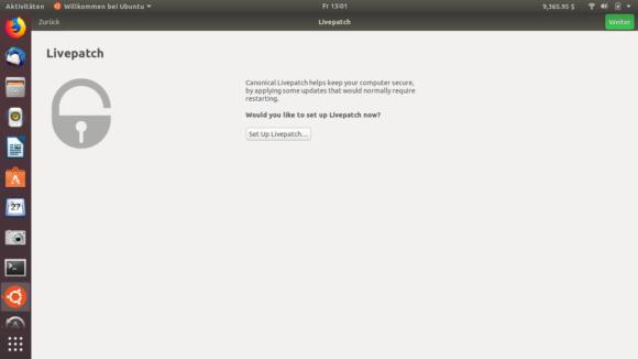 Willst Du den Livepatch Service nutzen und den Kernel live aktualisieren?