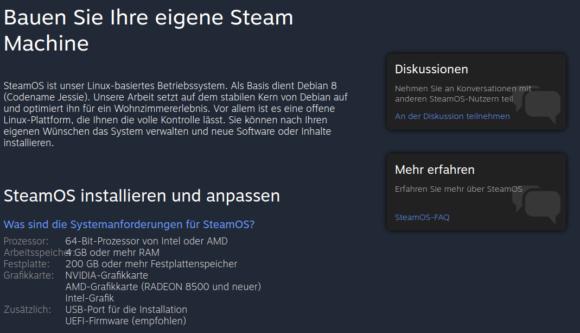 SteamOS und Steam Machines werden auch weiterhin unterstützt