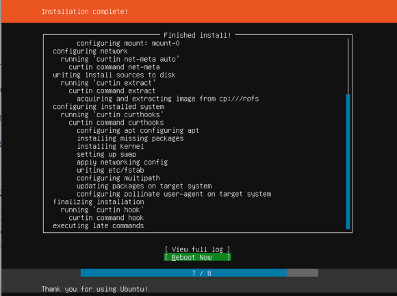 Ubuntu 18.04 Server Installer - Neustart