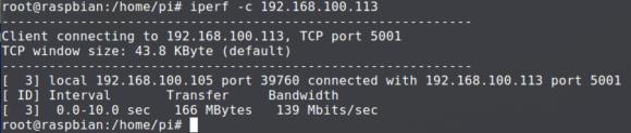 iperf Raspberry Pi 3 B+