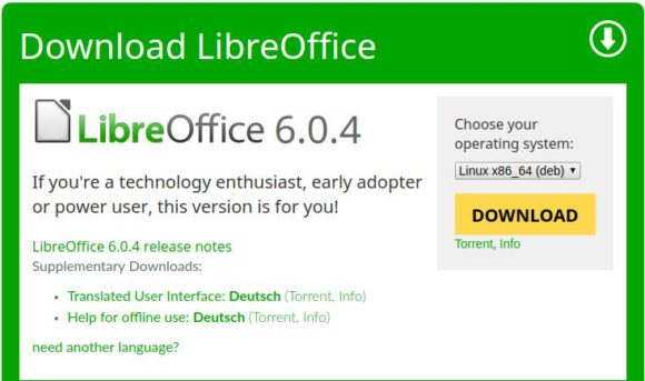 LibreOffice 6.0.4 ist verfügbar