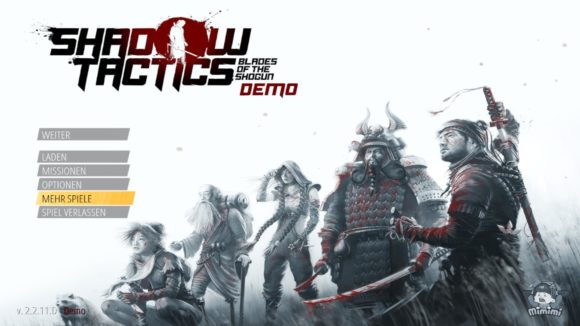 Shadow Tactics: Blades of the Shogun gibt es als Demo bei Steam