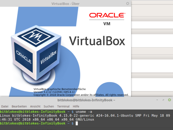 VirtualBox 5.2 unter Linux Mint 18.3 mit Kernel 4.15