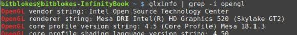 Zum Glück läuft der Intel-Treiber wieder!