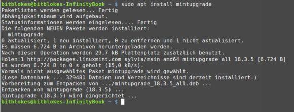 mintupgrade installieren