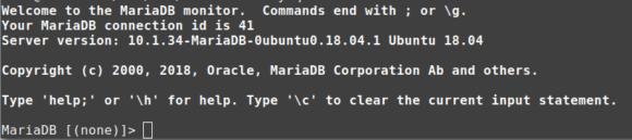 MariaDB - Eingabeaufforderung
