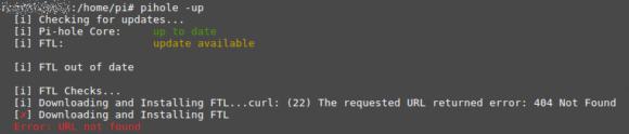 Beim Upgrade auf Pi-hole 4.0 kam es zu einem Fehler bei FTL
