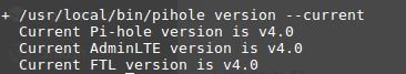 Upgrade von Pi-hole und FTL erfolgreich