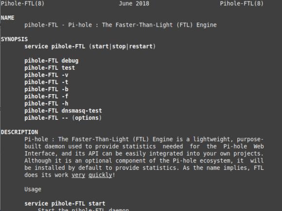 pihole-FTL man page