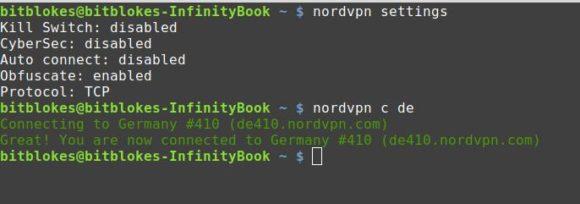 Stealth (Obfuscate) und CyberSec im Kommandozeilen-Client von NordVPN