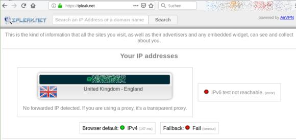 Via VPN in Großbritannien