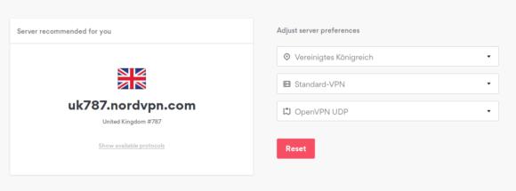 Server bei NordVPN sind nummeriert