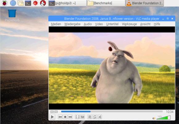 VLC Player ist ab Raspbian 2018-11-13 vorinstalliert