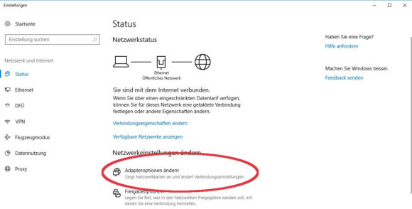 Windows IPv6 deaktivieren & Adapteroptionen