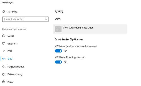 Windows SSTP einrichten 2 VPN Verbindung hinzufügen