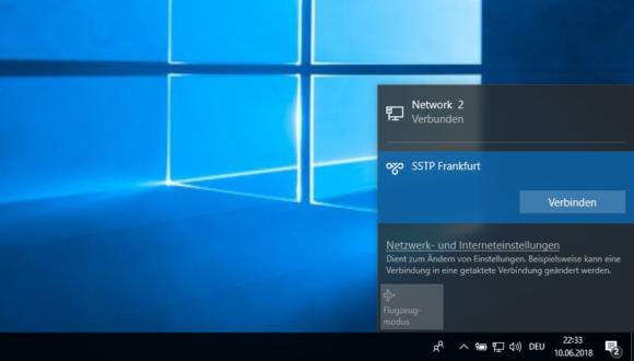 Windows SSTP einrichten & verbinden