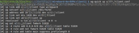 Die Verbindung via WireGuard ist sehr schnell etabliert
