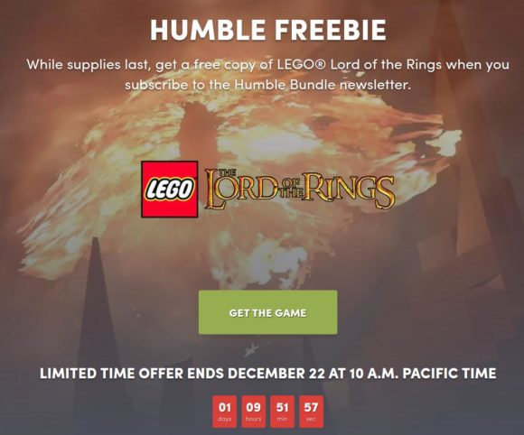 Humble Bundle: LEGO® The Lord of the Rings kostenlos