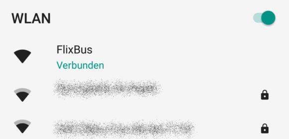 Flixbus WLAN ungeschützt