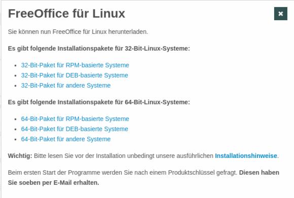 FreeOffice 2018 für Linux