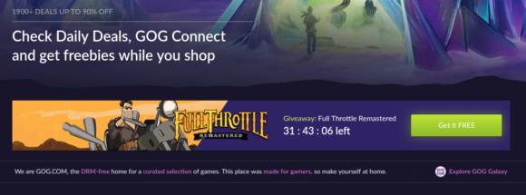 Full Throttle gibt es derzeit kostenlos!
