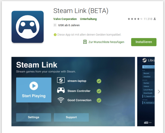 Steam Link für Android