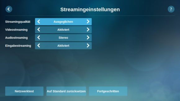 Streamingeinstellungen