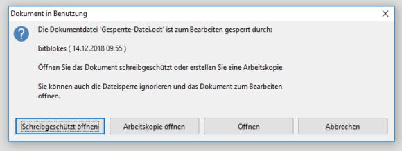 Die Windows-Meldung zur gesperrten Datei