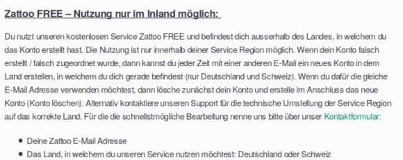 Bei Zattoo mit anderer E-Mail-Adresse anmelden