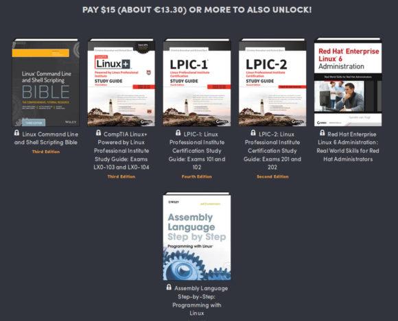 Für 15 US-Dollar gibt es folgende Bücher als digitale Formate