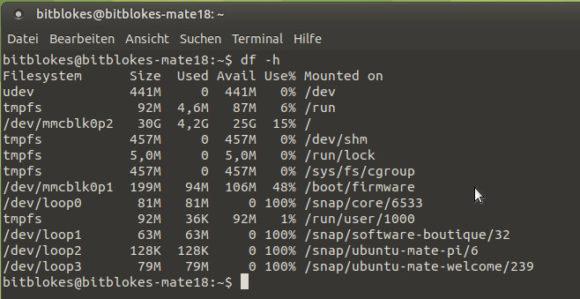 Ubuntu MATE 18.04 für Raspberry Pi nutzt den gesamten Datenträger
