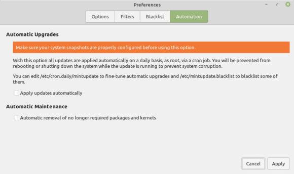 Nicht mehr benötigte Pakete und Kernel automatisch entfernen (Quelle: blog.linuxmint.com)
