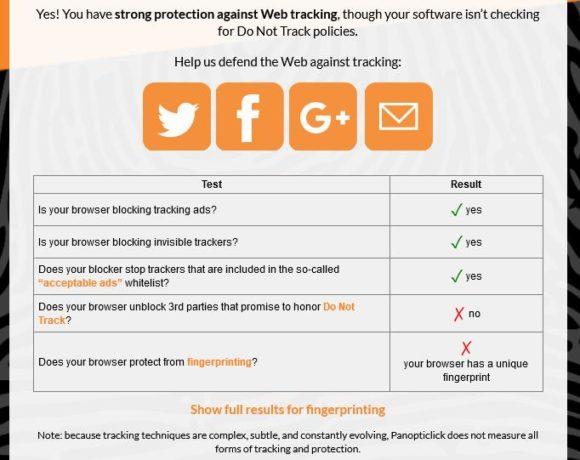 Privacy Badger installieren, schützt aber nicht vor Fingerprinting