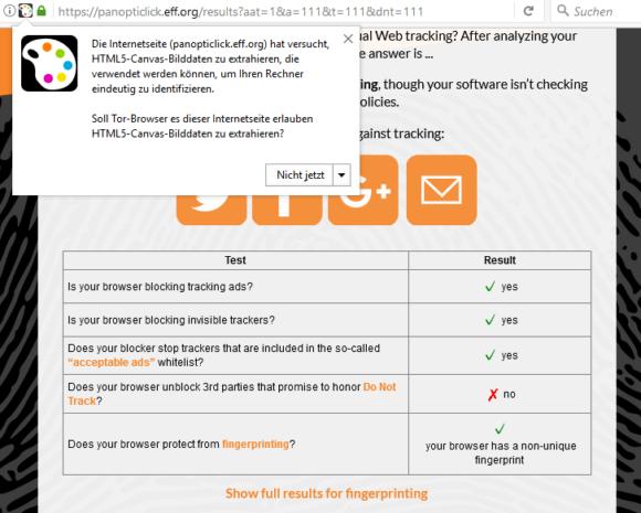 Mit dem Tor Browser ist kein Fingerprinting möglich