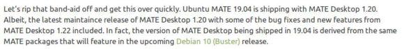 Ubuntu MATE 19.04 wird MATE 1.20 ausliefern