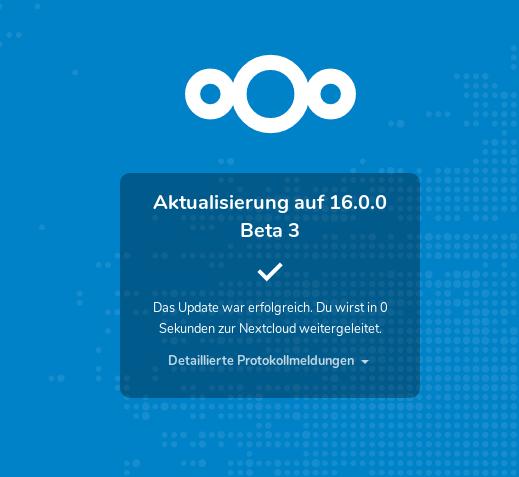 Nextcloud 16 Beta 3 - ich schau Dich vielleicht morgen an ...