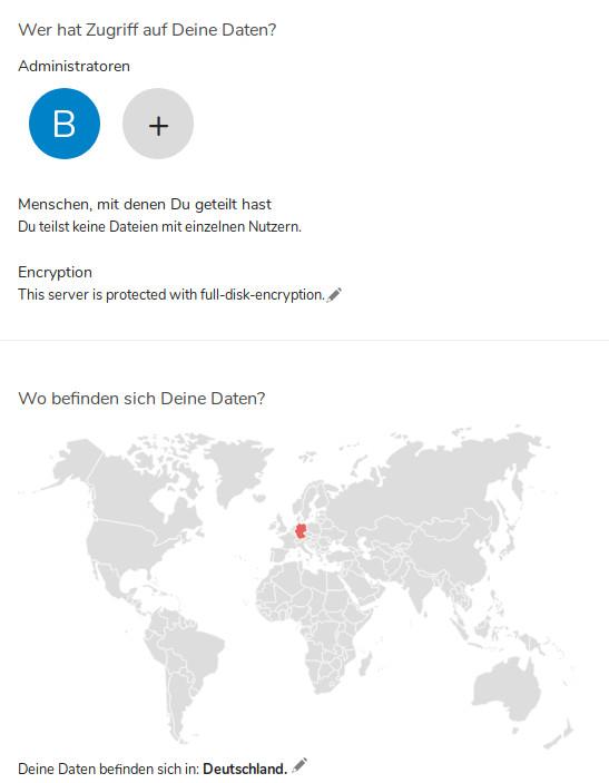 Nextcloud 16: Wer hat Zugriff und wo befinden sich Deine Daten?
