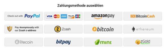 Auch mit Kryptowährungen zahlen