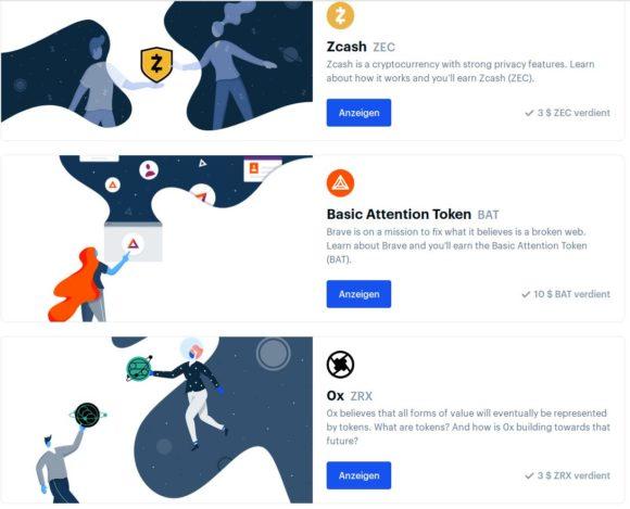 Coinbase Earn: Kryptowährungen geschenkt bekommen