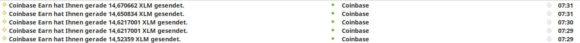 Coinbase hat mir Stellar / $XLM geschickt
