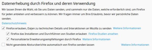 Firefox-Update via Studien eingespielt