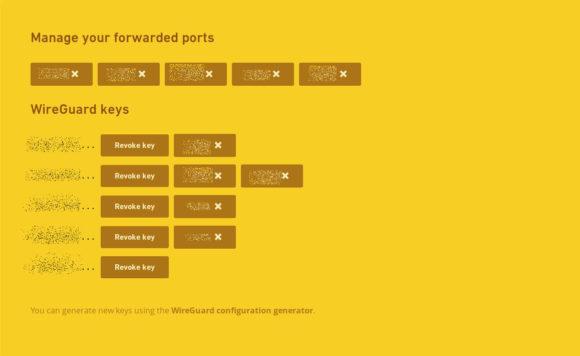 WireGuard-Schlüssel verwalten