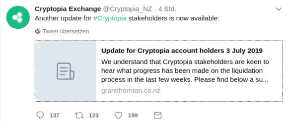 Neues von Cryptopia
