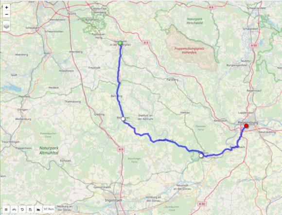 Mit dwMap eine Route planen